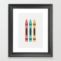 #94 Crayon Framed Art Print