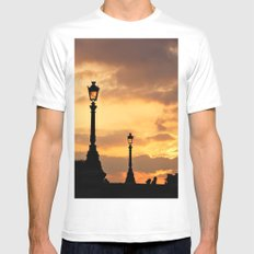 A sunset in Paris SMALL White Mens Fitted Tee