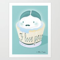 I Love You... Muffin Art Print