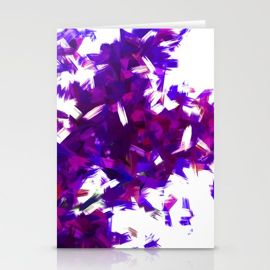 BLOSSOMS - PURPLE BLUE Stationery Card