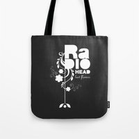 Radiohead song - Last flowers illustration white Tote Bag