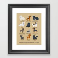EASTERN EUROPEAN DOGS Framed Art Print