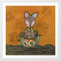 Kanga Family Art Print