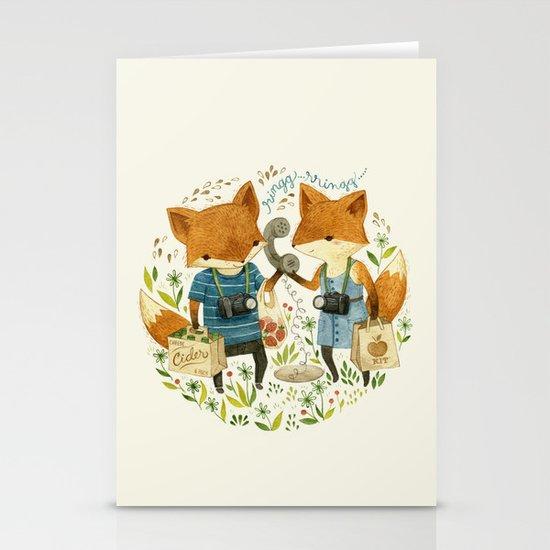 Fox Friends Stationery Card