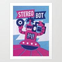 Stereo Bot Art Print