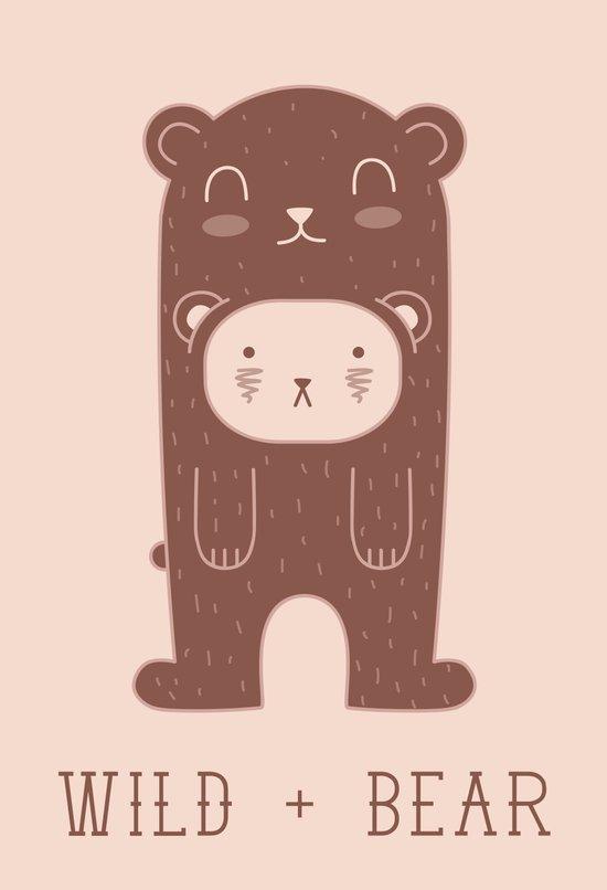 WILD + BEAR print Art Print