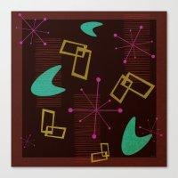 Bachelor Pad Royale Atomic Design Canvas Print