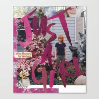 Just a Girl Canvas Print