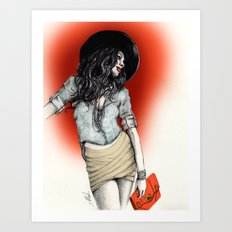 Haute Red Art Print