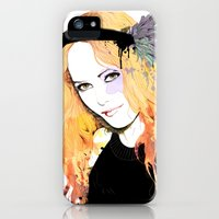 iPhone Cases featuring Vanessa paradis by Anne Cresci