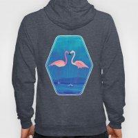 Flamingos in Love Hoody