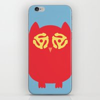 Owl 45s iPhone & iPod Skin