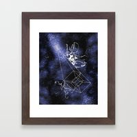 Dark Matter Supernova Framed Art Print
