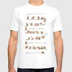 Summer Camp Mens Fitted Tee White SMALL
