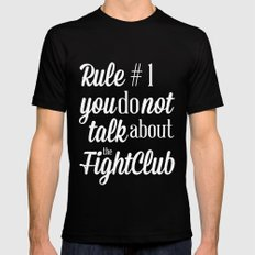 Fight Club Mens Fitted Tee Black SMALL