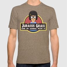 Jurassis Grass (Your ass is grass) Mens Fitted Tee Tri-Coffee SMALL