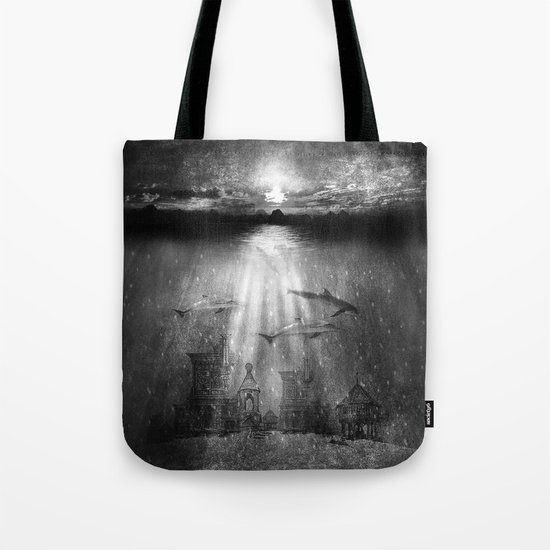 dolphins, civilization. Tote Bag