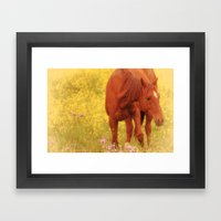 Wild As The Flowers Framed Art Print