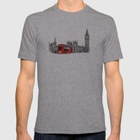 Black And White London W… Mens Fitted Tee Athletic Grey SMALL