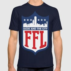 Sacks and the City Mens Fitted Tee Navy SMALL