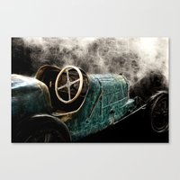 early days of auto race Canvas Print