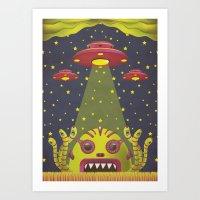 Alien Toxic Invasion Art Print