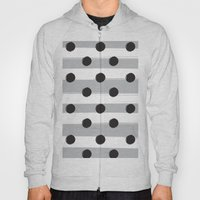 BLACK DOTS MEET WHITE STRIPES Hoody