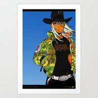 Alabama Girl - Camo Edit… Art Print