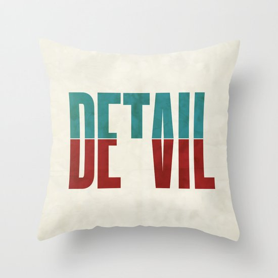 Devil in the detail. Throw Pillow