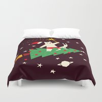 Space Christmas Duvet Cover
