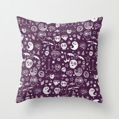 Day of the dead - Purple Throw Pillow