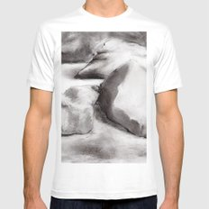 Ash White SMALL Mens Fitted Tee