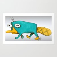 Perry - Pet mode on Art Print