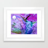 PINK MOON Framed Art Print