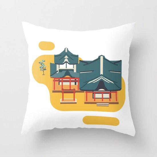 Kyoto icon Throw Pillow