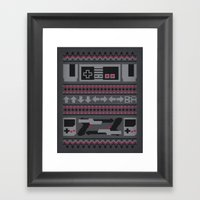 Old School Sweater Framed Art Print