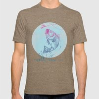 Bass jumping In Blue Circle3 Mens Fitted Tee Tri-Coffee SMALL
