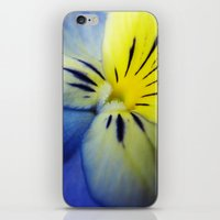 Flower Blue Yellow iPhone & iPod Skin