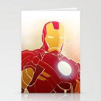 Iron Man Armor Stationery Cards