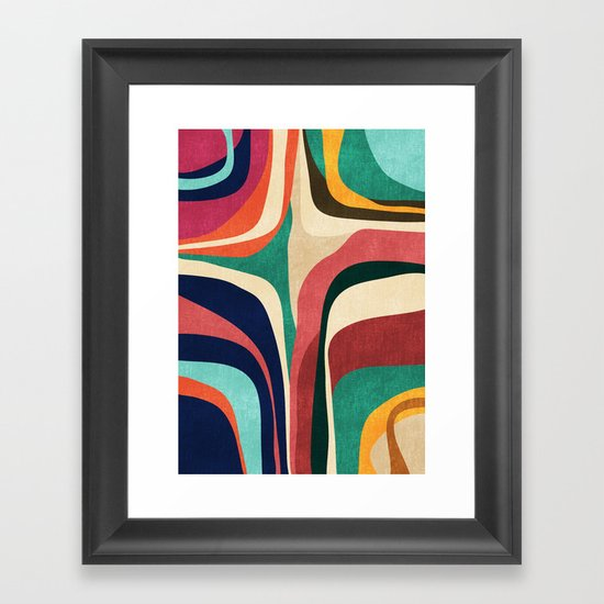 Impossible Contour Map Framed Art Print By Picomodi Society6