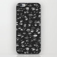 Feminine Faces - Charcoal iPhone & iPod Skin