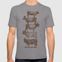 Cow Cow Nuts Mens Fitted Tee Tri-Grey SMALL