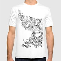 Jellyfish Migration Mens Fitted Tee White SMALL