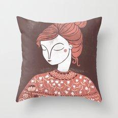 The Botanist Throw Pillow