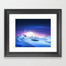 Cold Chase Framed Art Print
