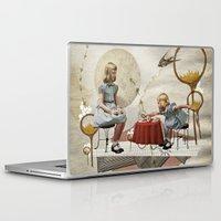 tea Laptop & iPad Skins featuring tea time by Heather Landis
