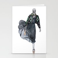 leather & ballet skeleton Stationery Cards