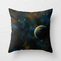Deus Nebula Throw Pillow