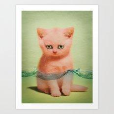 Kitten Tears 02 Art Print