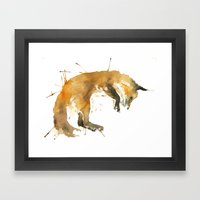 Sleepy Fox Framed Art Print